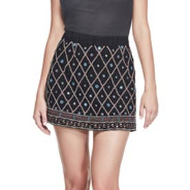 ゲス GUESS JOELLE EMBELLISHED MINI SKIRT (JET BLACK)