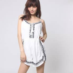 ゲス GUESS SL TOPAZ EMBROIDERED ROMPER (WHITE ALYSSUM)