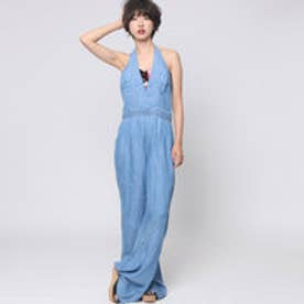 ゲス GUESS HALTER BRAIDED ULTRA FLARE JUMPSUIT (ALDEN 2 WASH)