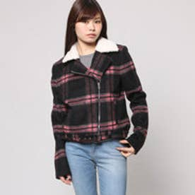 ゲス GUESS ABBOT PLAID JACKET (ROCKER PLAID LARGE JET BLACK)