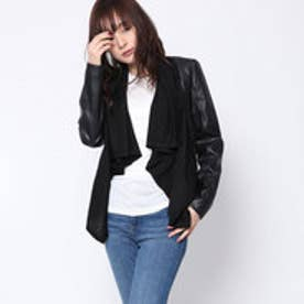 ゲス GUESS CLENEIDE CARDIGAN (JET BLACK W/ FROST GREY)