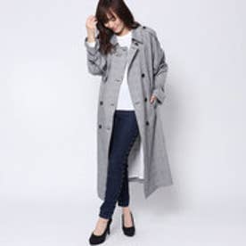 ゲス GUESS GLEN CHECK TRENCH COAT (BLACK)