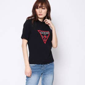ゲス GUESS TRIANGLE LOGO MOCKNECK TEE (BLACK)