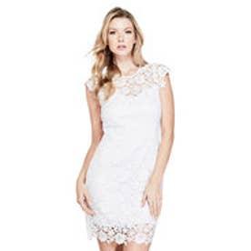 ゲス GUESS JOYA LACE DRESS (TRUE WHITE)