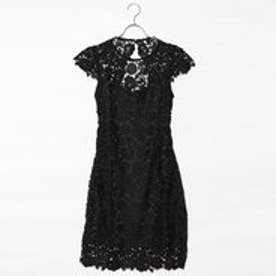 ゲス GUESS JOYA LACE DRESS (JET BLACK W/ FROST GREY)