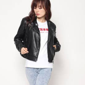 ゲス GUESS ELEONORA BIKER JACKET (JET BLACK)