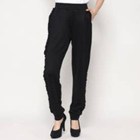 ゲス GUESS REBECCA SIDE FRILL JOGGER PANT (JET BLACK)