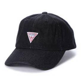 ゲス GUESS TRIANGLE LOGO DENIM 6PANEL CAP (BLACK)