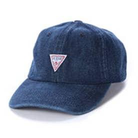 ゲス GUESS TRIANGLE LOGO DENIM 6PANEL CAP (DARK BLUE)