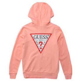 GUESS x Hello Kitty PATTERN TRIANGLE LOGO PULLOVER PARKA (PINK) (ゲス × ハローキティ パターントライアングルロゴ プルオーバー