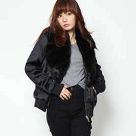 ゲス GUESS HILMA BOMBER JACKET (JET BLACK)