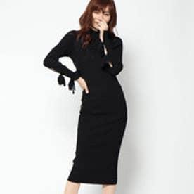 ゲス GUESS SABINE SWEATER LONG DRESS (JET BLACK)