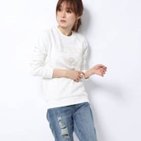 ゲス GUESS LADIES L/SLV SWEATSHIRT (IVORY)