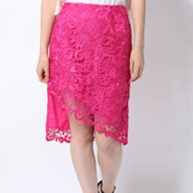 ゲス GUESS COLLENA HIGH-RISE LACE PENCIL SKIRT (F646)
