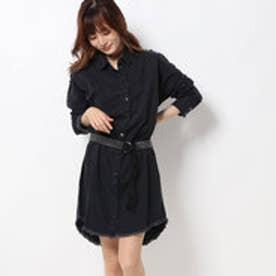 ゲス GUESS PARISIAN STUDS BELT DENIM DRESS (BLACK SAUVAGE)
