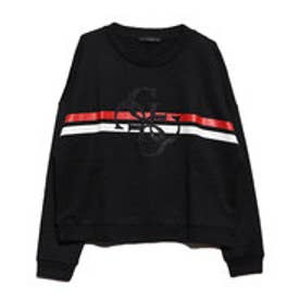 ゲス GUESS GLITTER 4G LOGO SWEAT (JET BLACK)