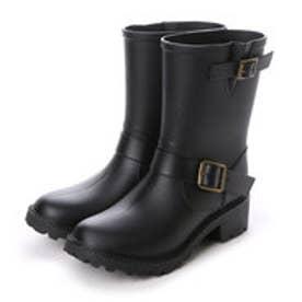ルクールタンドル le coeur tendre レインブーツ レディース 長靴 エンジニアレインブーツ (Black)