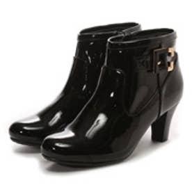 【雨の日対応☆】ブリジットバーキン Bridget Birkin スタックヒールレインショートブーツ(ブラックエナメル)