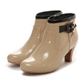 【雨の日対応☆】ブリジットバーキン Bridget Birkin スタックヒールレインショートブーツ(ベージュエナメル)