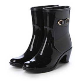 【雨の日対応☆】ブリジット バーキン Bridget Birkin サイドプレートリボンレインブーツ (ブラック)