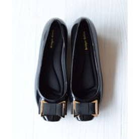 ブリジット バーキン Bridget Birkin 金具デザインリボンレインパンプス (ブラック)