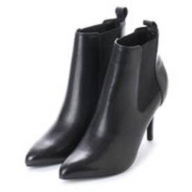 ブリジット バーキン Bridget Birkin 本革サイドゴアハイヒールショートブーツ (ブラック)