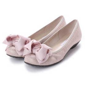 ブリジット バーキン Bridget Birkin 【Bridget Birkin walk】ボリュームリボンフラットウォーキングパンプス (ピンク雑材)