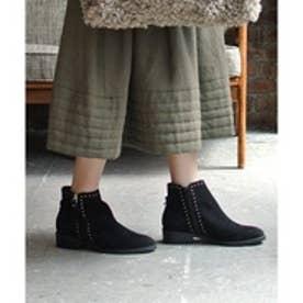 ブリジット バーキン Bridget Birkin 3.5cmスタッズショートブーツ (ブラックスウェード)