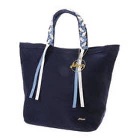 ミアン MIAN Bridget Birkin 三つ編みハンドルトートバッグ (ネイビー雑材)