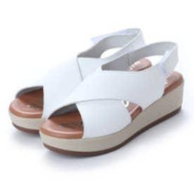 オー マイ サンダルズ Oh my Sandals 【INTER-CHAUSSURES】クッションインソールクロスサンダル (ホワイト)