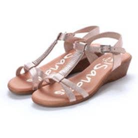 オー マイ サンダルズ Oh my Sandals 【INTER-CHAUSSURES】クッションインソールメタリックサンダル (ピンク)
