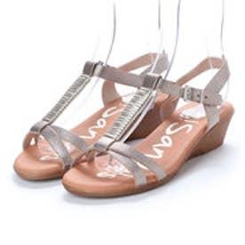 オー マイ サンダルズ Oh my Sandals 【INTER-CHAUSSURES】クッションインソールメタリックサンダル (ゴールド)