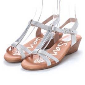オー マイ サンダルズ Oh my Sandals 【INTER-CHAUSSURES】クッションインソールメタリックサンダル (シルバー)