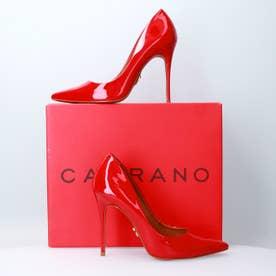 カラーノ CARRANO 【INTER-CHAUSSURES】ポインテッドピンヒールパンプス (レッドエナメル)