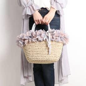 クーコ COOCO 【INTER-CHAUSSURES】ボリュームフリルかごバッグ (ピンクコンビ)