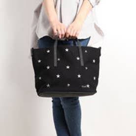ミアン MIAN 【INTER-CHAUSSURES】星刺繍2wayトートバッグ (ブラック雑材)
