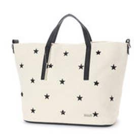 ミアン MIAN 【INTER-CHAUSSURES】星刺繍2wayトートバッグ (アイボリー雑材)