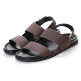 ハンター HUNTER M DOUBLE STRAP LEATHER SANDAL (DKB)