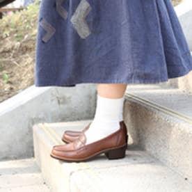 ハルタ HARUTA 牛革ヒールアップコインローファー #7400 (ダークブラウン)