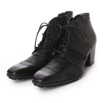 ヨースケ YOSUKE 本革チゼルトゥチャッカーブーツ (ブラック)