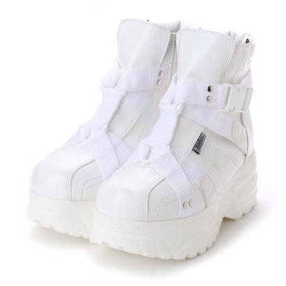 ヨースケ YOSUKE 厚底スニーカー (ホワイト)
