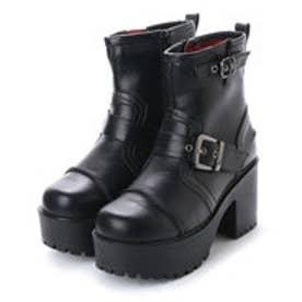 ヨースケ YOSUKE 厚底ブーツ (ブラック)