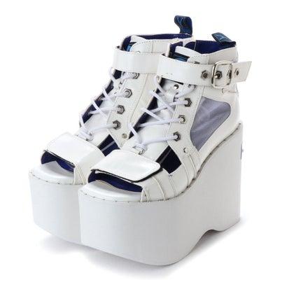 ヨースケ YOSUKE 厚底ブーツサンダル (ホワイト)