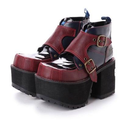 ヨースケ YOSUKE [原宿店×YOSUKE 限定コラボアイテム]厚底ショートブーツ (ブラックコンビ)