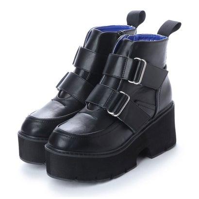 ヨースケ YOSUKE 厚底ショートブーツ (ブラック)