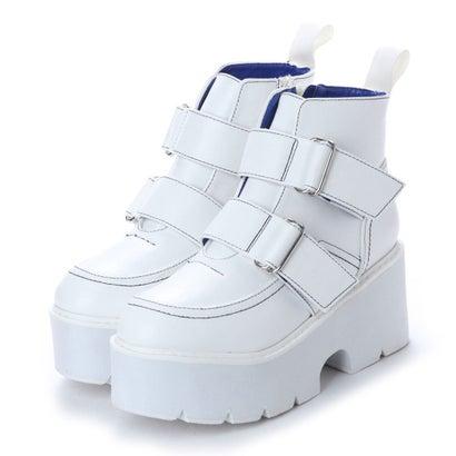 ヨースケ YOSUKE 厚底ショートブーツ (ホワイト)