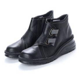 ヨースケ YOSUKE 本革ショートブーツ (ブラック)