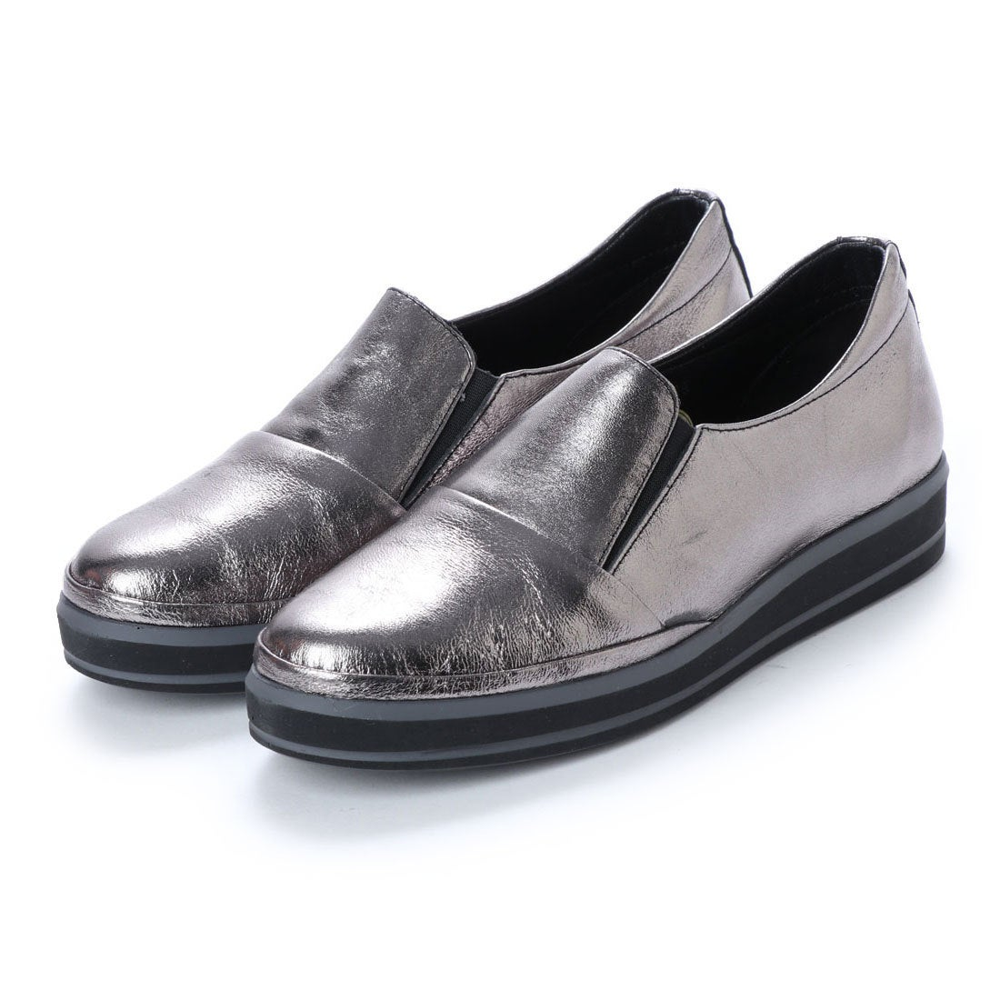 37d139bfc23d5 ヨースケ YOSUKE 本革スニーカー (シルバー) -靴&ファッション通販 ロコンド〜自宅で試着、気軽に返品