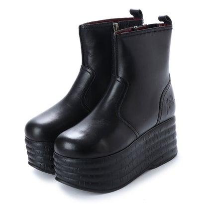 ヨースケ YOSUKE 本革厚底ブーツ (ブラック)
