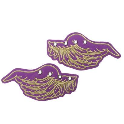 [限定shop取扱いアイテム]ヨースケ YOSUKE [シューケア用品]天使の羽根 (パープルコンビ)